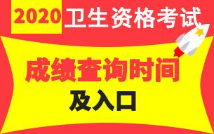 中国卫生人才网2020年卫生专业技术资格考试成绩查询时间11.19起