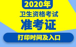 中国卫生人才网2020全国卫生专业技术资格考试准考证打印时间及入口专题