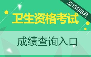 中国卫生人才网2018卫生资格成绩查询入口